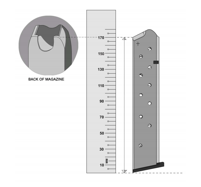 IPSC Magazine Length for Open Division